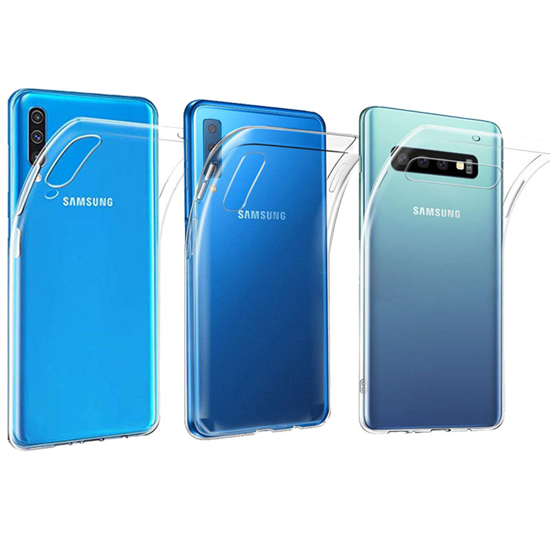 Case For Samsung Galaxy A7 2018 Note 10 Pro Transparent TPU Silicone Samsung A50 A20 A40