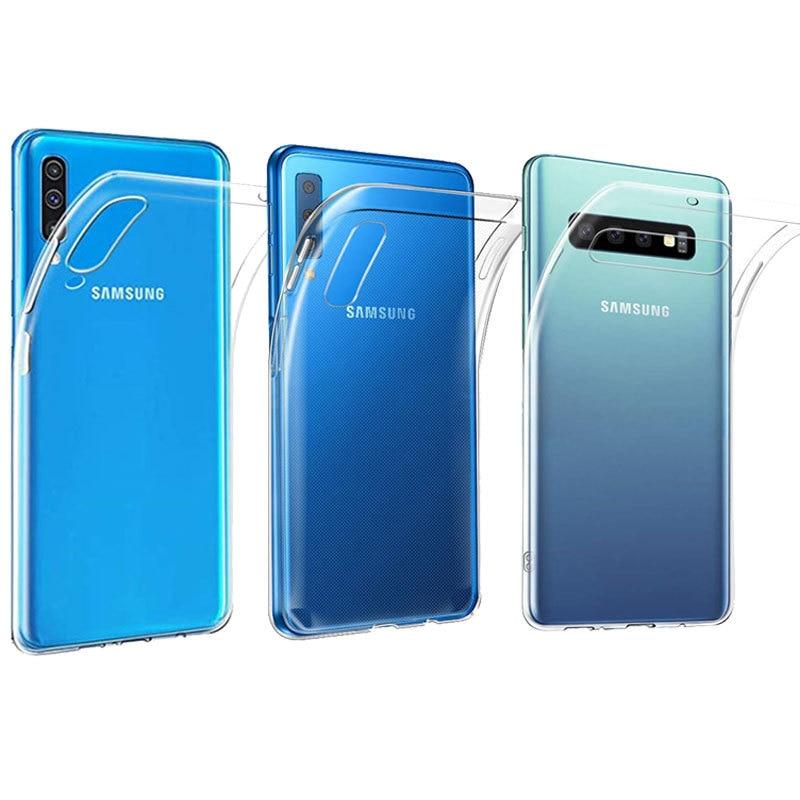 350ef08ab2c Étui pour Samsung Galaxy A7 2018 A50 Ultra-mince Transparent En Silicone  TPU Pour Samsung A50 A20 A40 A30 A70 A80 S10 Plus S10E Cas ~ Hot Deal July  2019