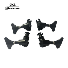 Uk Dream 4pcs/set 4R Black Electric Bass Tuners Machine Heads Tuning Pegs Keys Set With Mounting Screws & Ferrules Guitar Parts