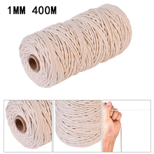 Natural Beige Cotton Twisted Rope Craft Macrame Artisan String Good Quality