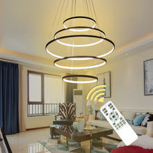 New Circle Rings Modern LED Pendant Lights For Living Room Bedroom 5 4 3 2 Tiers Led Pendant Lamp Fashion Home Lighting Fixtures