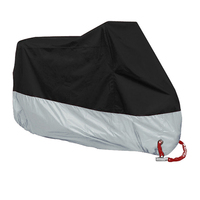 XXXXL Outdoor Waterproof Motorcycle Motor Bike Cover Rain Dust UV Protector 116x43x55inch with free storage bag