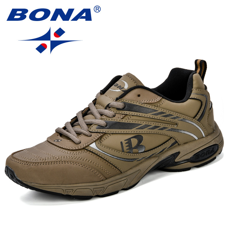 BONA Outdoor Adult Men Road Running Jogging Walking Sports Shoes High Quality Lace Up Breathable Male