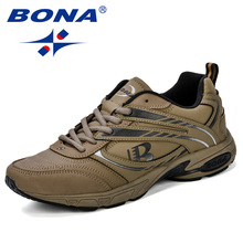 BONA Outdoor Adult Men Road Running Jogging Walking Sports Shoes High Quality Lace-Up Breathable Male Sneakers Comfortable Shoes цены онлайн