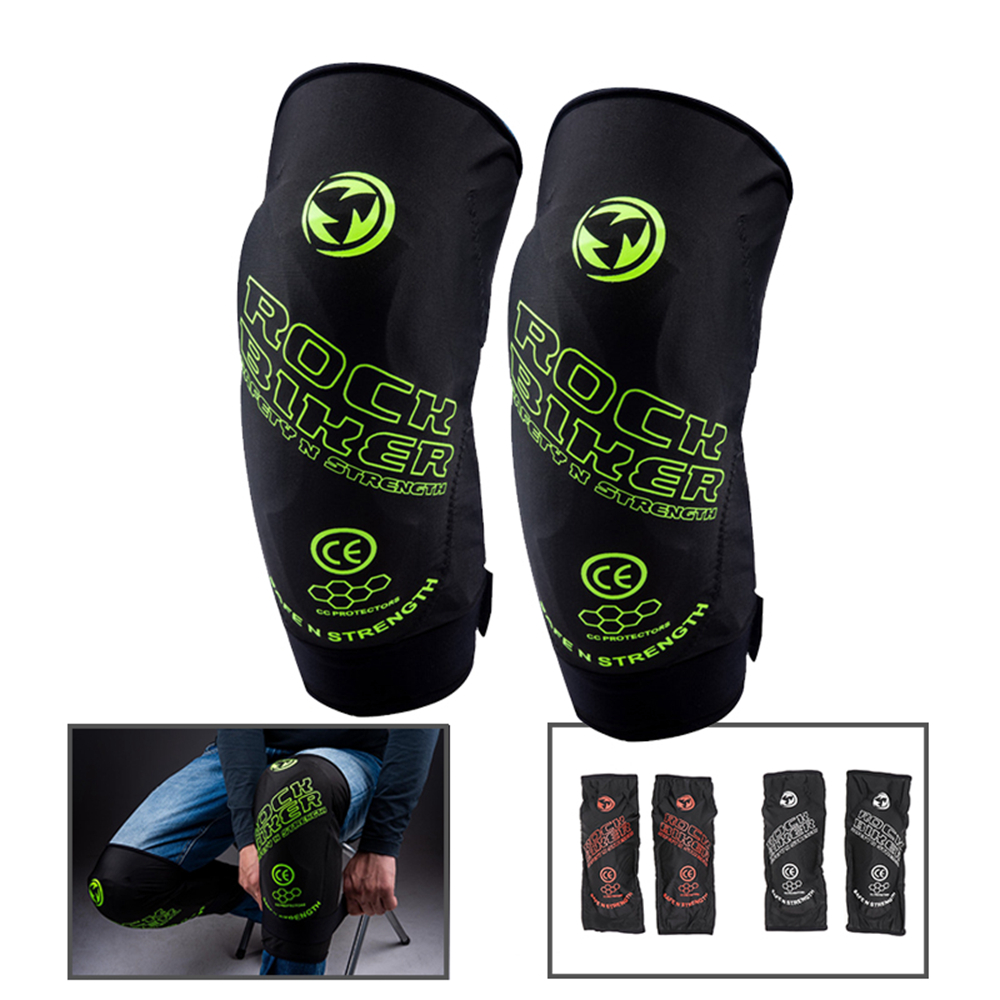 Kemimoto Protective-Guards Knee-Pads Motorcycle-Knee-Protector Black Soft MTB Ski