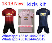 18 19 manchester united soccer jersey alexis LUKAKU 2018 2019 MATIC POGBA  hgome away pink RASHAFORD MARTIAL FRED third kids foot 18315e108