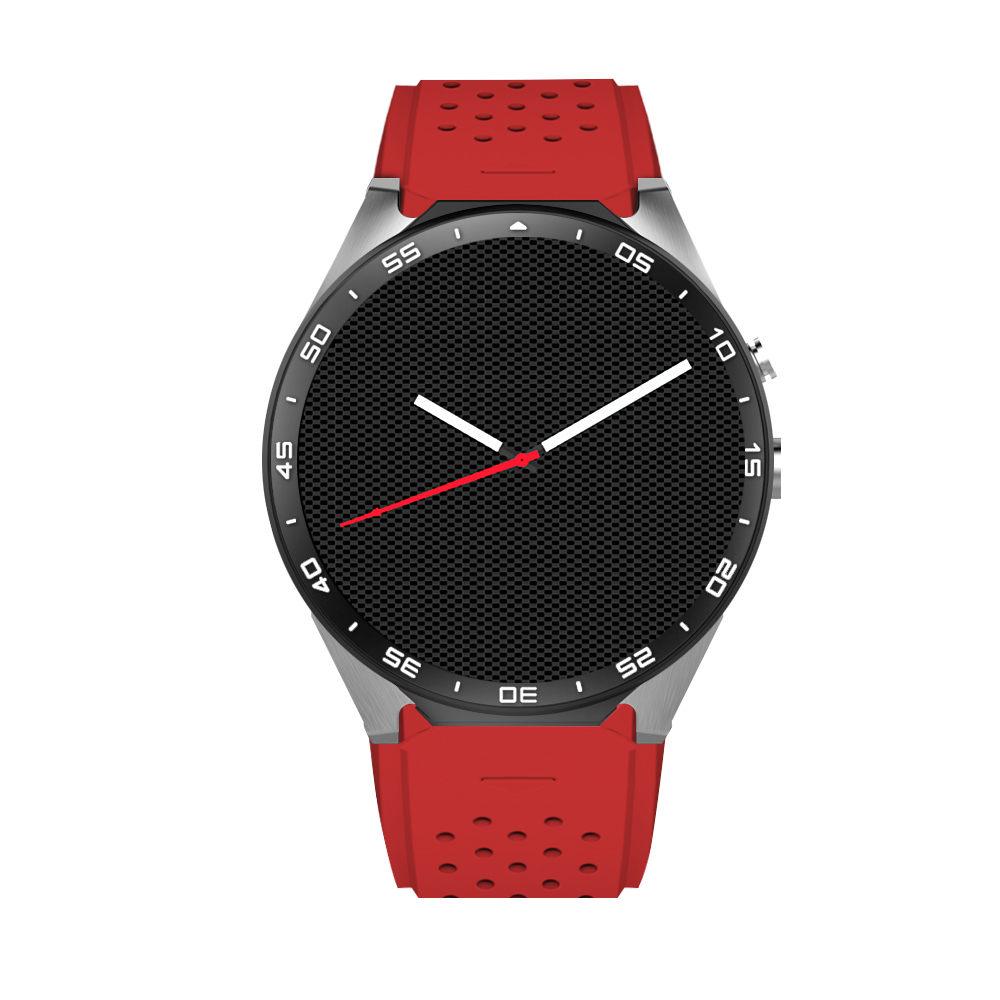 KW88 Smart watch Android 5.1 OS Quad Core 400*400 Smartwatch MTK6580 Support 3G WiFi Nano SIM Card GPS Heart Rate Wristwatch