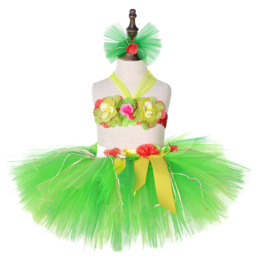 2019girls Rainbow Tutu Skirts Kids Handmade Tulle Pettiskirt Mermaid Flower Swimsuit And Flower Headband Baby Ballet Dance Tutus Mother & Kids