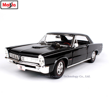 Maisto 1:18 1965 Pontiac GTO Muscle Car Classic Alloy Retro Model Decoration Collection gift