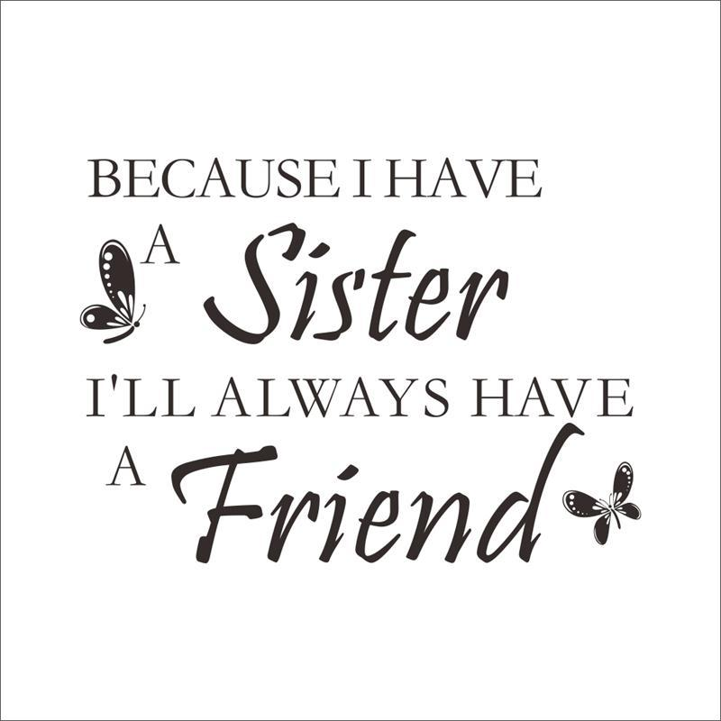 8350 0.7 A sister is your best friend quote wall stickers ...