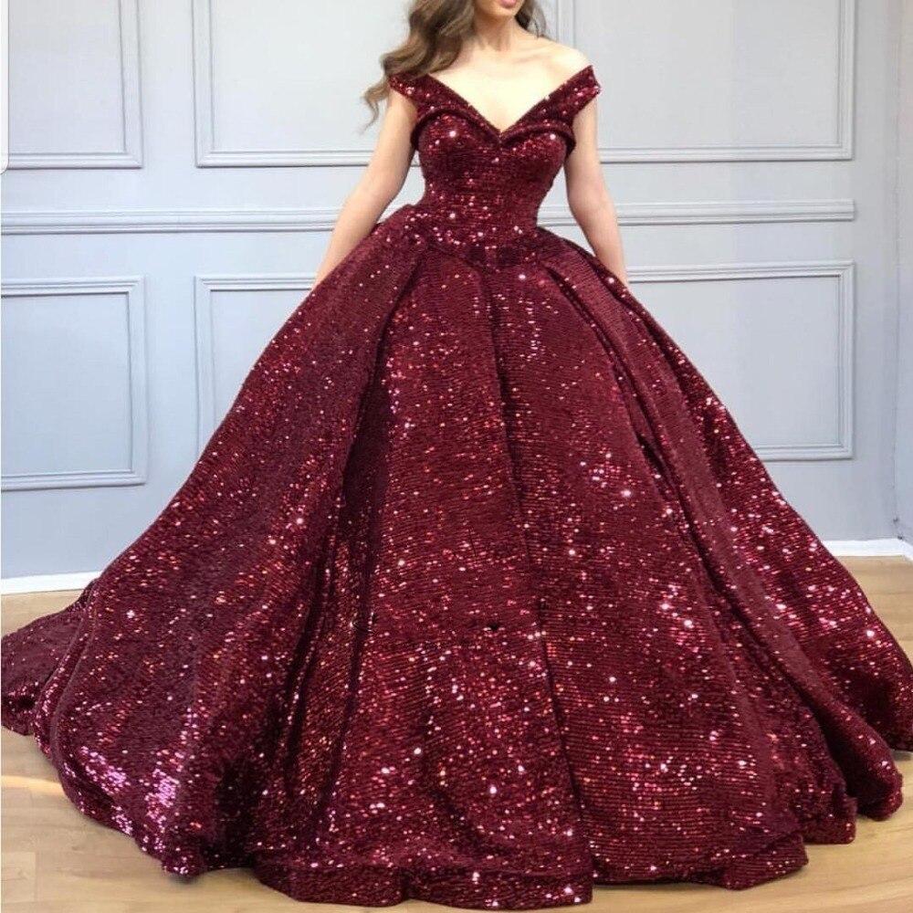 Robe de soirée Bling robe de soirée longue abiye robe de soirée bordeaux robes de soirée vestido de festa longo robes de soirée élégante