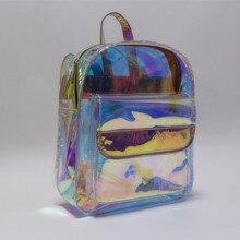 여성용 가방 패션 스타일 홀로그램 여성 가방 미니 방수 스쿨 백 판매에 무료 배송