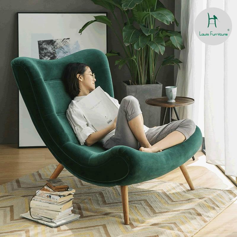 Louis Fashion Living Room Chairs Single Sofa Nordic Creative Leisure Fabric Balcony Bedroom Living Room Chairs Aliexpress