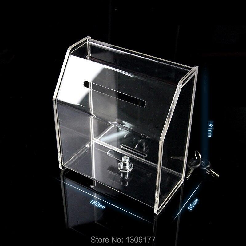 Locking Visitenkarte Box W Schloss Kommentar Box Spende Box