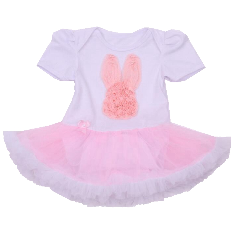 Pink Bunny Summer Baby Rompers Tutu Dress Roupa Infantil Body Bebe Overalls Jumpsuits Newborn Baby Girl Clothes Infant Clothing
