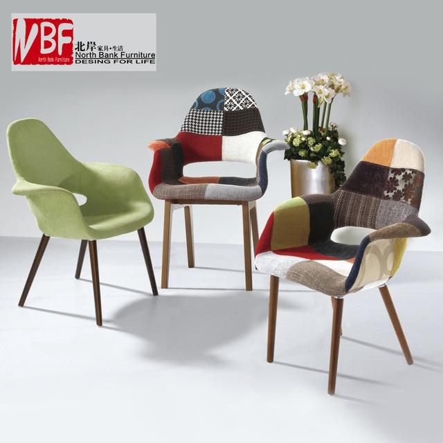 cte nord meubles en bois ikea cent tissu tissu chaise longue manger chaise fauteuil - Fauteuil Moderne Ikea