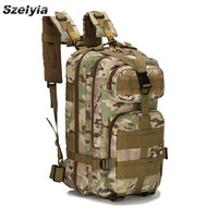 Szelyia Airsoft backPack Bag Molle Bag Pouch Fast Tactical Military Equipment Trave Outdoor Climbing Hiking Bag Waterproof 25L