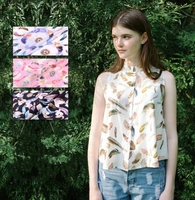 double crepe Digital Inkjet Silk fabric dresses,tissu au metre,print satin chiffon fabric telas por metros,textiles,C076