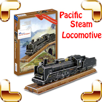 Christmas Gift Placific Steam Locomotive 3D Train Puzzle History Train Puzzle DIY Toy Puzzle Game For Adult & Collection Present