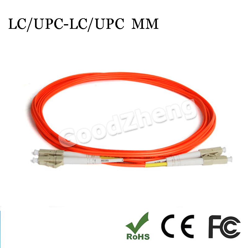 1 Pair LC/UPC-LC/UPC fiber optic patch cord jumper cable, MM, multi-mode duplex 62.5/125, 3M/5M/10M/15M Home Electrical Wires