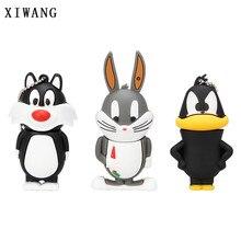 XIWANG animal u disk series cat lion rabbit USB2.0 flash disk pendrive4GB 8GB 16GB 32GB 64GB animal pen drive gift free shipping