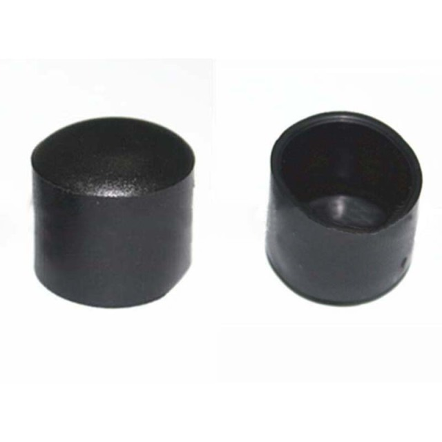 chair leg caps upholstered swivel chairs for living room 4pcs set 28mm pvc plastic feet protector pads furniture table covers round bottom black