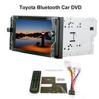 6,95 ''Cd плеер автомобиля Радио Bluetooth Usb/Sd/Fm Aux аудио стерео поддерживает заднего вида Камера/ dvd/Vcd/Mp4/ТВ тюнер для автомобилей Toyota