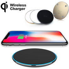 YILIZOMANA Qi Wireless Charger Pad for iPhone 8 8 Plus X Mobile Phone Samsung Note 8 Galaxy S7 S8 S9  USB Fast Wireless charging atorch qi wireless charger mobile phone tester for iphone x 8 plus samsung galaxy s8 s9 s7 usb fast charger lcd tester display
