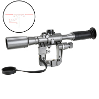 Hunting Tactical Sight SVD 6X36 1 Scope Red Illuminated for SVD AK Rifle Scope Sniper RifleScope Optical