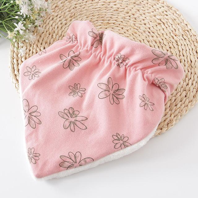 Elastic Patterned Cotton Baby Bib