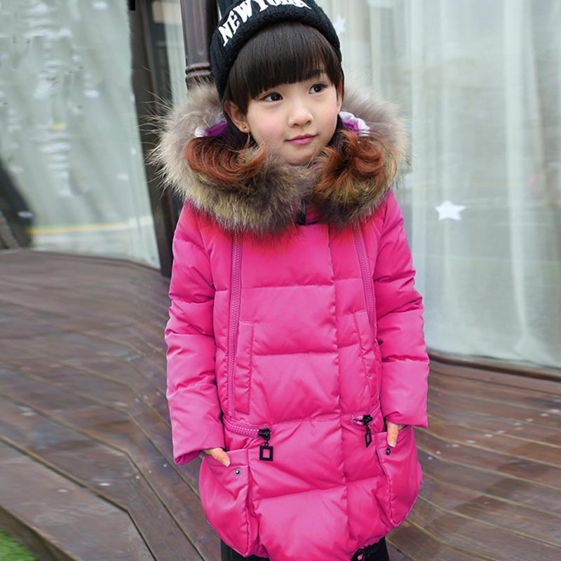 Thick Winter children jackets Girls Coats Hooded Faux Fur Collar Kids Outerwear Cotton Padded Baby Girl Snowsuit for 5-8T casual 2016 winter jacket for boys warm jackets coats outerwears thick hooded down cotton jackets for children boy winter parkas