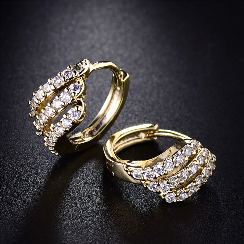 BUDONG Valentine's Day Gift Three Row Fashion Earing for Women - Fashion Jewelry - Photo 6