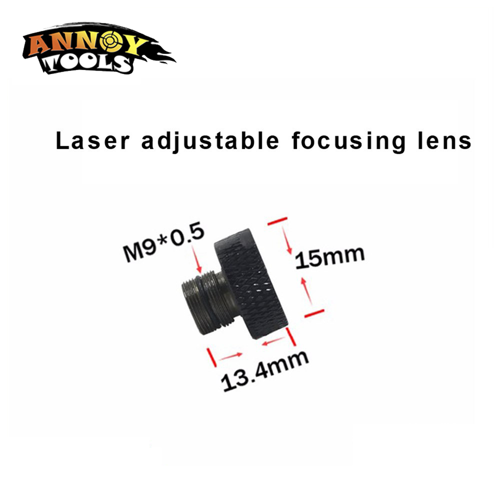 NEW Adjustable focusing <font><b>lens</b></font> three Layer coated glass M9*0.5 for 405nm 445nm <font><b>450nm</b></font> 1w 2w 2.5w 3w 5.5w laser diode module image