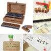 Wholesale 70pcs Vintage Wooden Craft Box Alphabet Stamp Rubber Stamp Set Urabet Wooden Letter Numbber Stamps