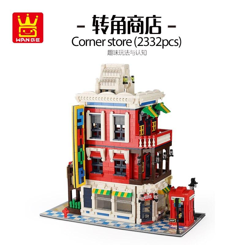 2018 nouvelle série Street View coin magasin éducation bricolage blocs de construction briques assemblage jouets compatibles avec ensemble lego