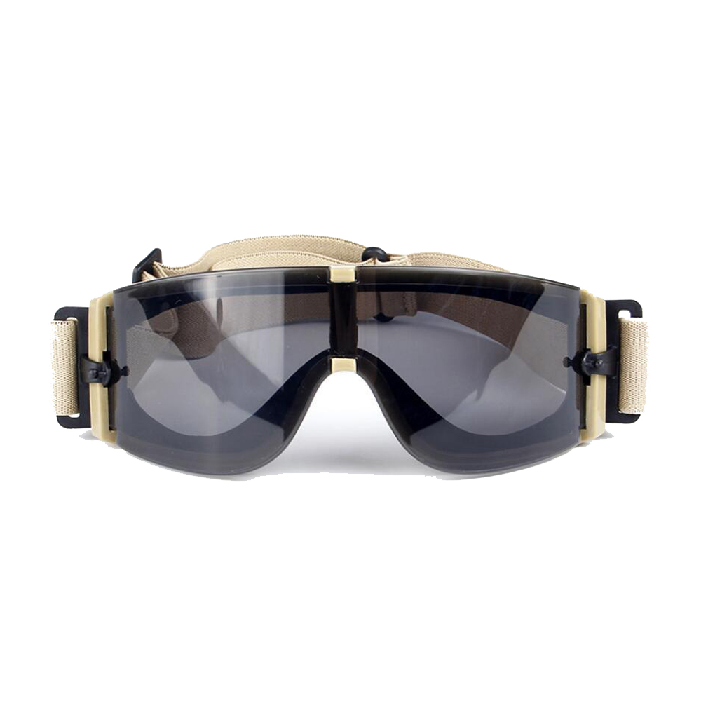40b983be26 Ballistic X800 Army Safety Goggles 3 Lens Kit Military Sunglasses Night  Vision Anit-UV Combat