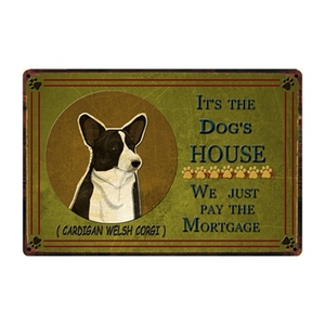 [ Kelly66 ] It's Dog's House Cardigan Welsh Corgi Metal Sign Tin Poster Home Decor Bar Wall Art Painting 20*30 CM Size y-2235(China)
