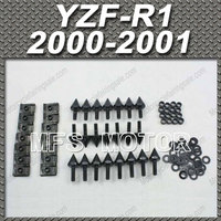 Motorcycle Accessories Fairing Bolts Kit Aluminum Black For Yamaha YZF R1 2000 2001 Fairing Aluminum Spike YZFR1