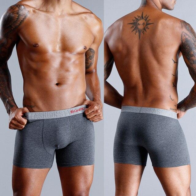 4 piezas Boxershorts calzoncillos de algodón para Hombre Ropa interior de ropa interior de hombre Sexy bajo desgaste de los hombres Calzoncillos Bóxer hombre Gay 9xl mucho superior