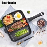 Bear Leader 33*27cm Maifanshi Breakfast Pot Home Multi Function Non Stick Pan Frying Pan Steak Pot Kithen Tool