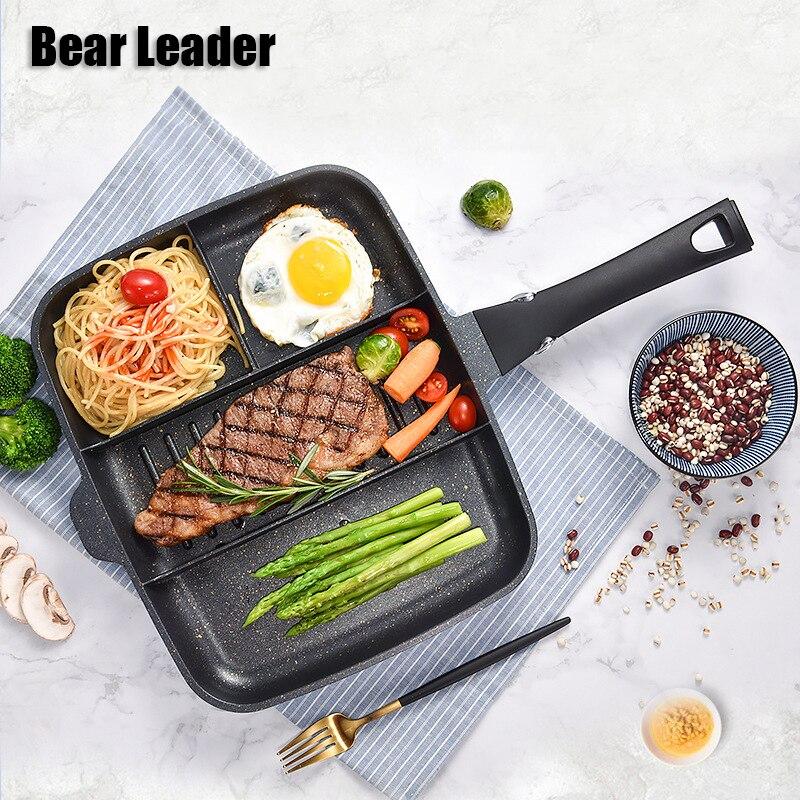 Chef ours 33*27 cm Maifanshi Petit Déjeuner Pot Maison Multi-Fonction Non-Stick poêle à frire Pan Steak Pot kithen Outil
