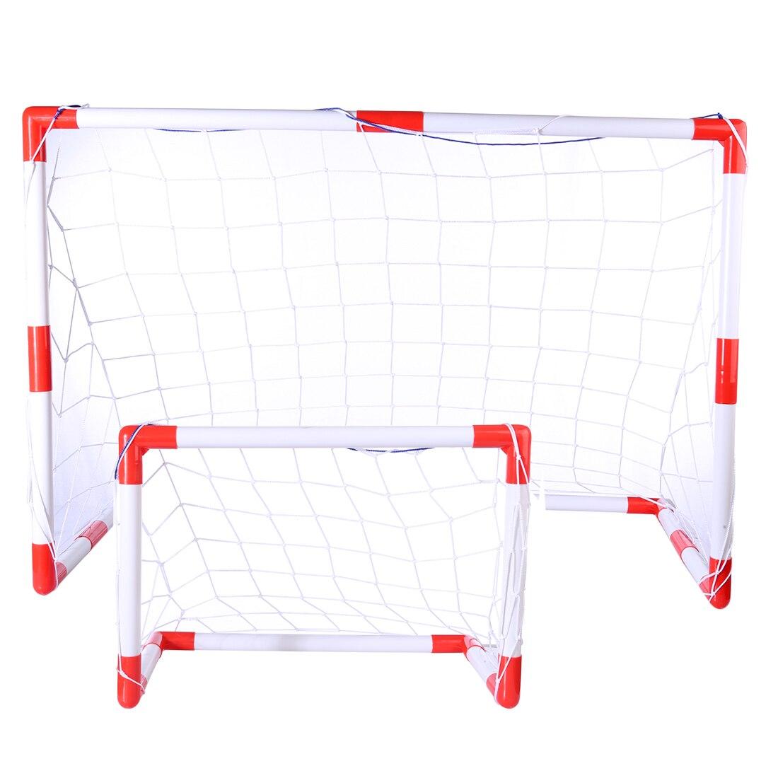 Portatile Pieghevole Kit Calcio-in-1 Bambini Basket Tabellone Obiettivo di Calcio Formazione Set Giocattolo-L