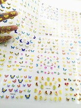 30 Pcs/Lot Sheets Golutterfly/Multi-Color Designed Nail Sticker Art DIY Tip Seal Decal 3D Decoration