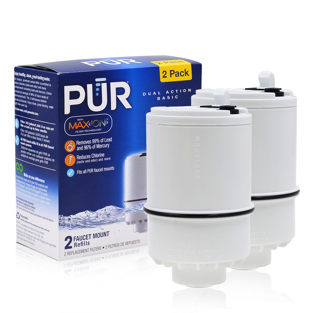 New Household Water Purifiers Activated Carbon Replacement PUR RF-9999 MineralClear Water Faucet Mount Filter White 2 Pcs/lot new big simulation wings pigeons toy polyethylene