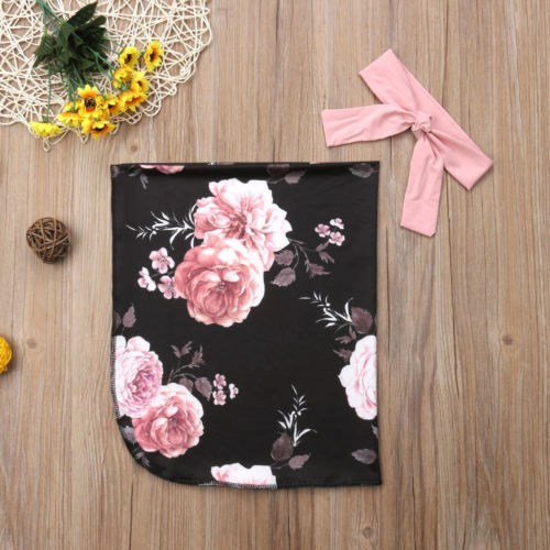 15a4232be Aliexpress.com : Buy Newborn Kid Baby Girl Boy Infant Floral Shark Blanket  Swaddle Muslin Wrap Swaddling Sleeping Bag Headwear 2pcs Outfits from  Reliable ...