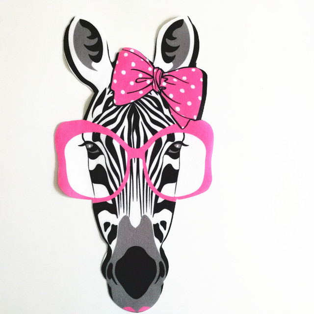T shirt patch Diy Zebra head pattern 23cm brand logo iron on patches ...