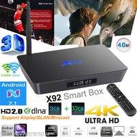 X92 5pcs Amlogic S912 8 Core Android 6 0 2GB 16GB Kodi Media Player 4K UHD