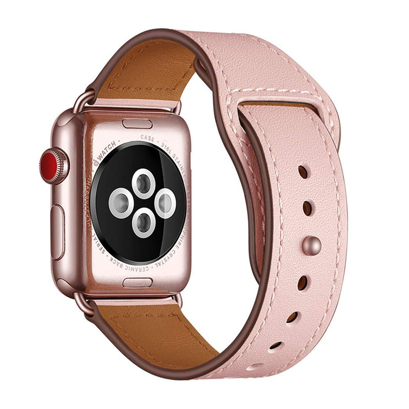 Genuine Leather Replacement Band Strap For Apple Watch Series 4 3 2 1 38mm 40mm , VIOTOO Soft Leather Watch Band For Iwatch