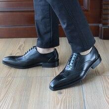 FELIX CHU 2017 Formal Genuine Leather Black Lace Up Oxford Men Dress Shoes Mens Square Toe Office Party Suit Flats 1815-928