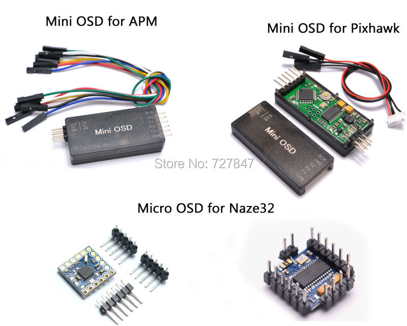 MICRO MINIMOSD Minim OSD Mini OSD For Quadcopter Multicopter APM / PIXHAWK / NAZE32 Flight Control micro minimosd minim osd mini osd w  kv